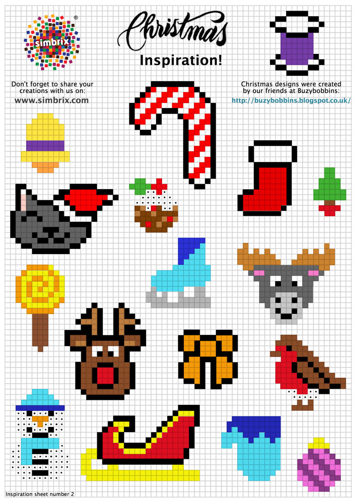 Christmas Simbrix Inspiration Sheet