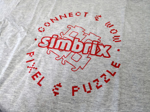 CLOSE UP OF THE Simbrix T-Shirt Design